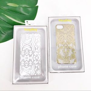 2 New iPhone X Heyday Cases - Clear w/Print Design